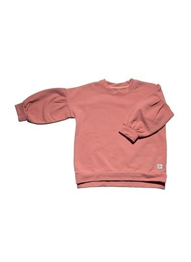 Nila Kids Koyu Pembe Rengi Bol Kesim Kız Bebek Organik Sweat NK08015P (6 AY- 5 YAş) Pembe
